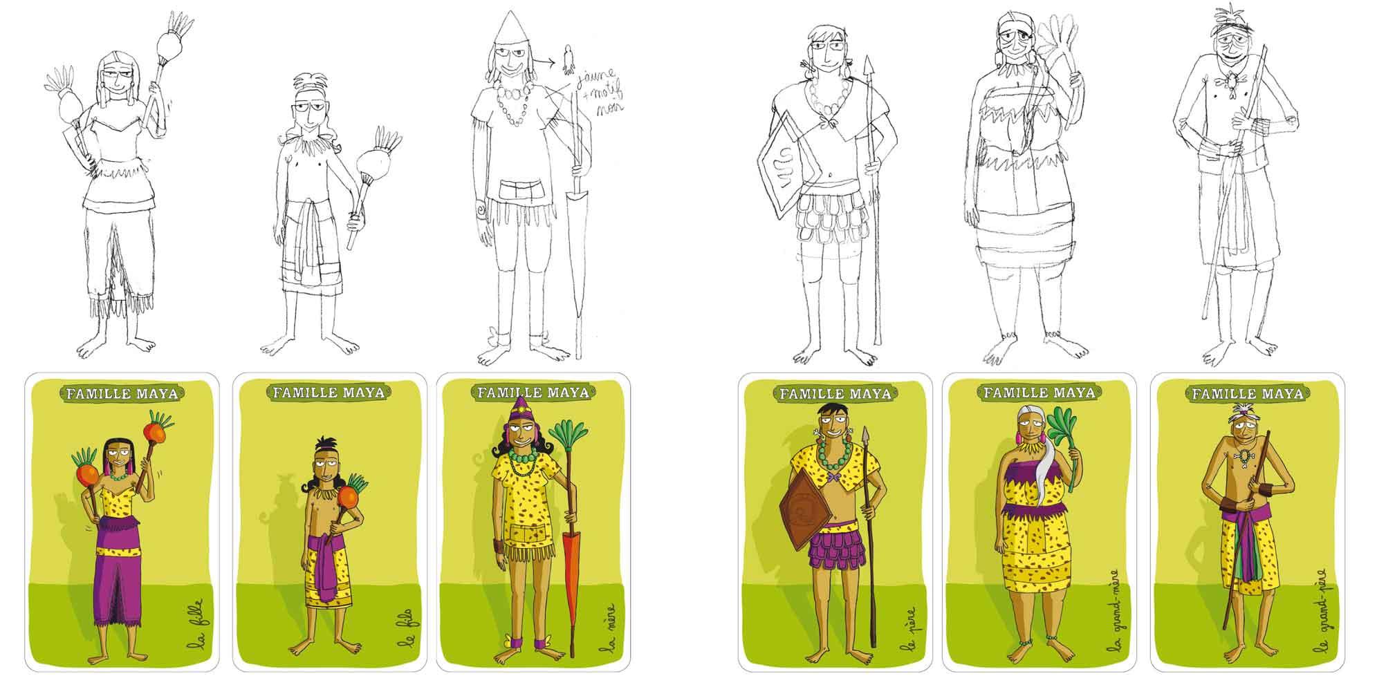 jeu-cartes-7-familles-mexicaines-maya