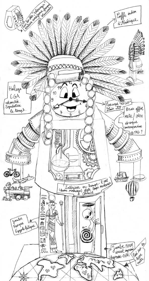 croquis d'intention monsieur carnaval CGA