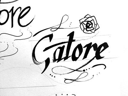 recherche logo gatore calligraphie