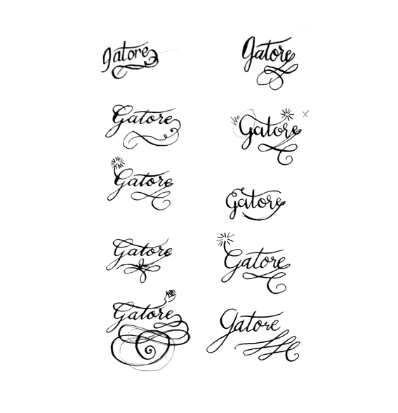 planche calligraphie logo gatore