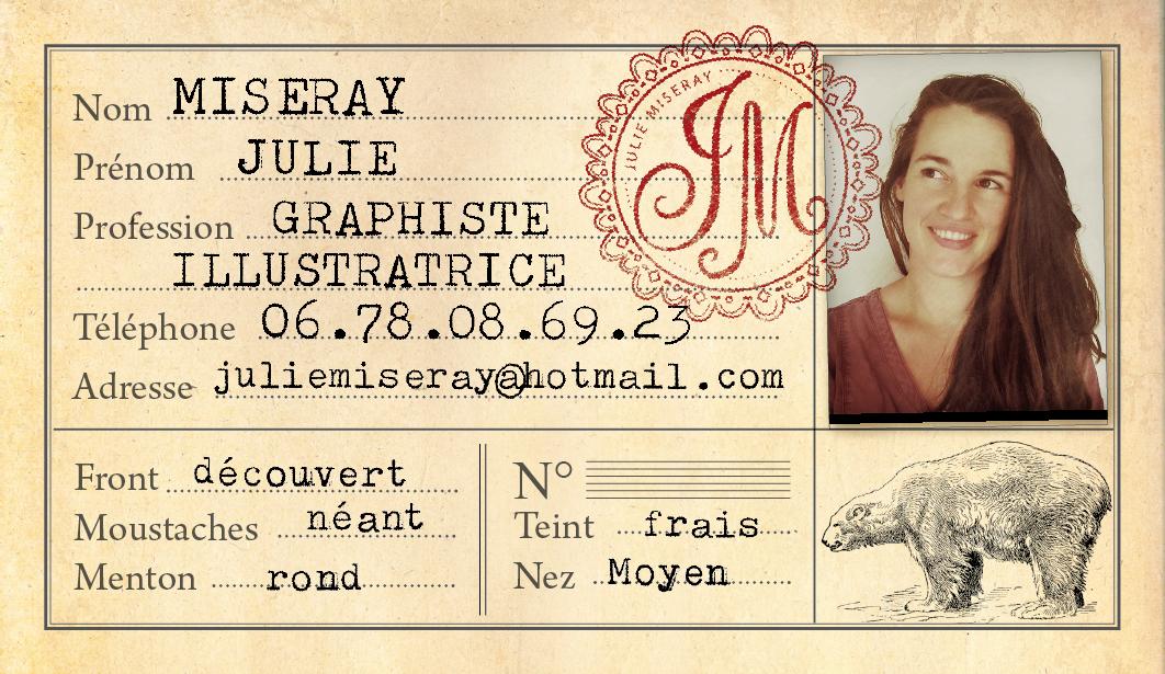 carte de visite Julie Miseray